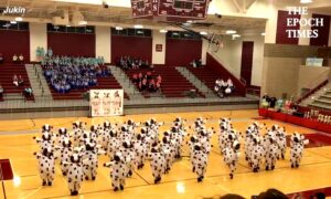 Dance Team Performs Routine Dressed as Cows