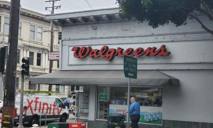 A Walgreens is seen in San Francisco on May 19, 2021. (Jason Blair/The Epoch Times)