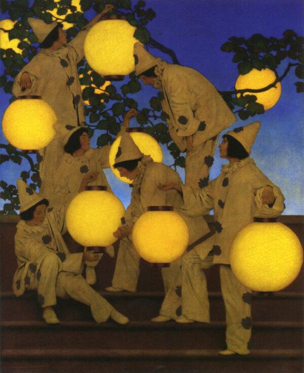 Maxfield_Parrish_The_Lantern_Bearers_1908