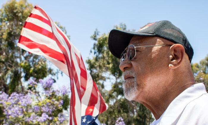 U.S. Marine Corps veteran Dave Culmer at his home in Culver City, Calif., on June 13, 2021. (John Fredricks/The Epoch Times)