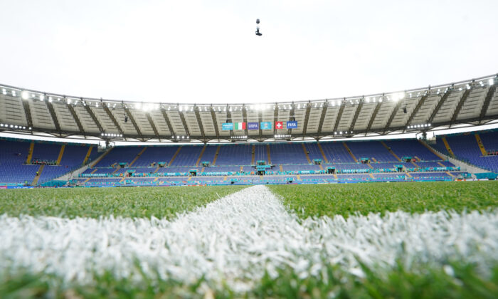 A general view before the UEFA Euro 2020 Championship Group A match between Italy and Switzerland at Olimpico Stadium in Rome, Italy, on June 16, 2021. (Claudio Villa/Getty Images)