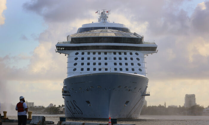 The Royal Caribbean's Odyssey of The Seas arrives at Port Everglades in Fort Lauderdale, Fla., on June 10, 2021. (Joe Raedle/Getty Images)