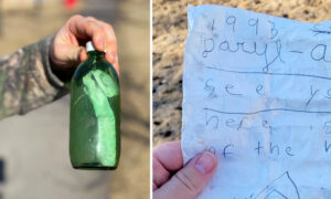Letter Sealed Inside a Bottle Nearly 30 Years Ago Resurfaces in a Lake in Canada