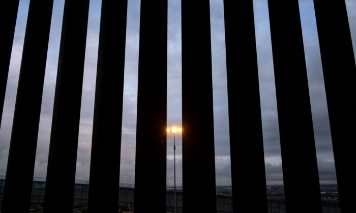 A section of the U.S.–Mexico border fence seen from Tijuana, Baja California State, Mexico, on Feb. 5, 2019. (Guillermo Arias/AFP via Getty Images)