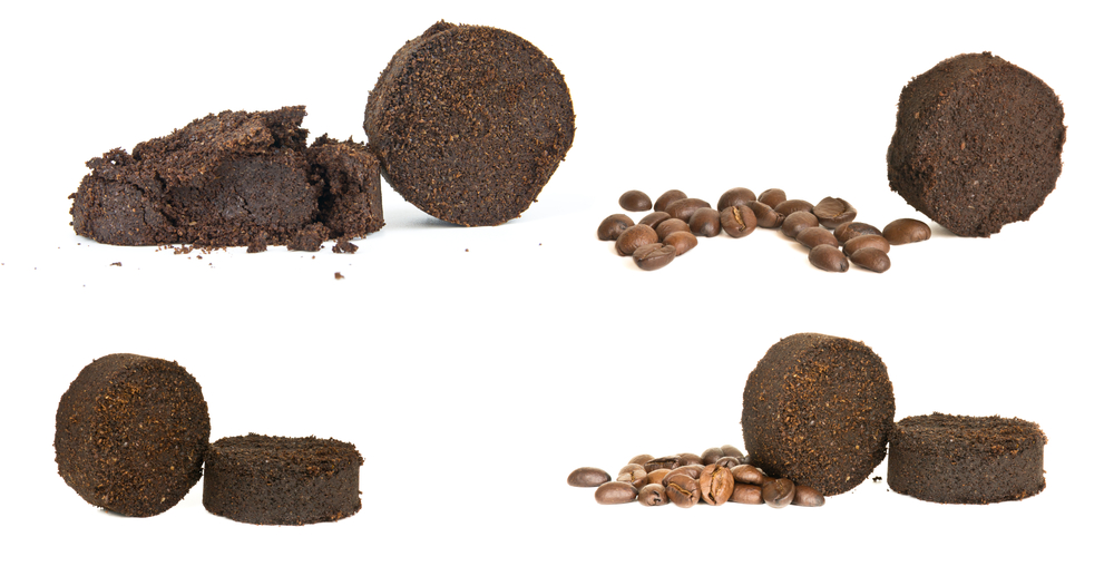 Used,Ground,Coffee,Tablets,And,Coffee,Grains