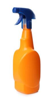 Orange,Spray,Bottle,Of,Cleaning,Product,Isolated,On,White