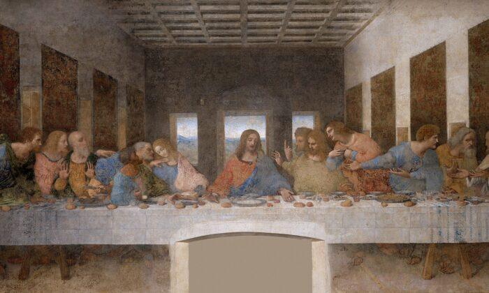 """The restored """"The Last Supper"""" by Leonardo da Vinci. (Public Domain)"""