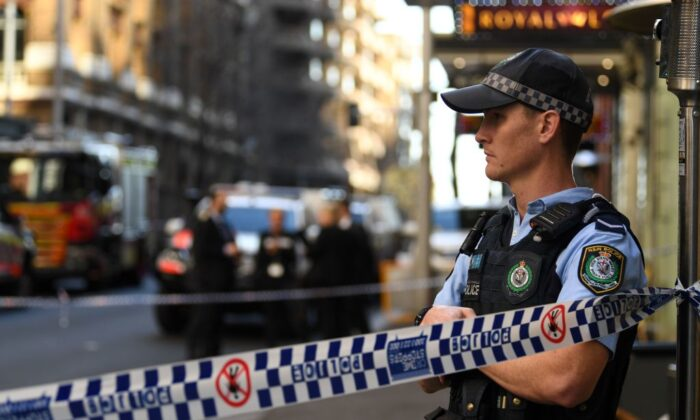 Crime figure Bilal Hamze was gunned down in a hail of bullets in Sydney CBD by multiple persons in a black Audi on June 17, 2021 in Sydney, Australia. (Photo by Saeed KHAN / AFP via Getty Image)
