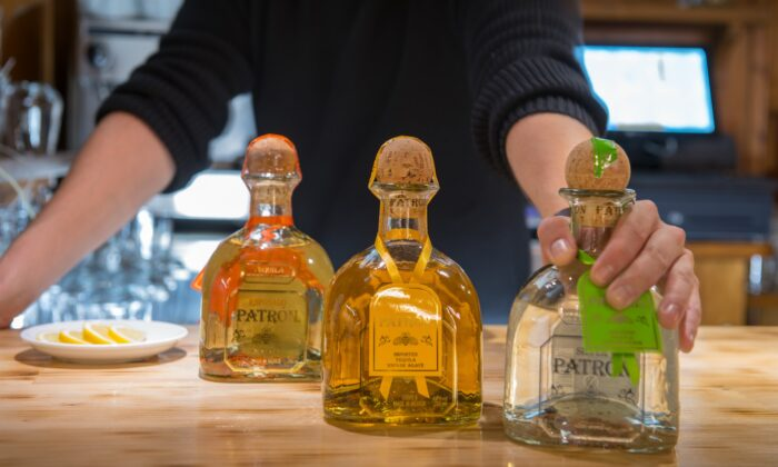 Bottles of Patron tequila. (Martin Silva Cosentino/Shutterstock)
