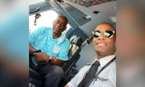 Airline Pilot Announces on PA That His Dad Is on First Flight Aboard His Plane—Breaks Into Tears