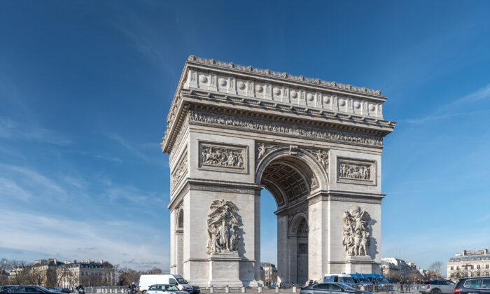 A French national treasure, the Arc de Triomphe de l'Étoile, stands a colossal 164 feet high, 148 feet wide, and 72 feet deepand is dedicated to the armies of the Republic and Empire. (Paris 16/CC BY-SA 2.0))