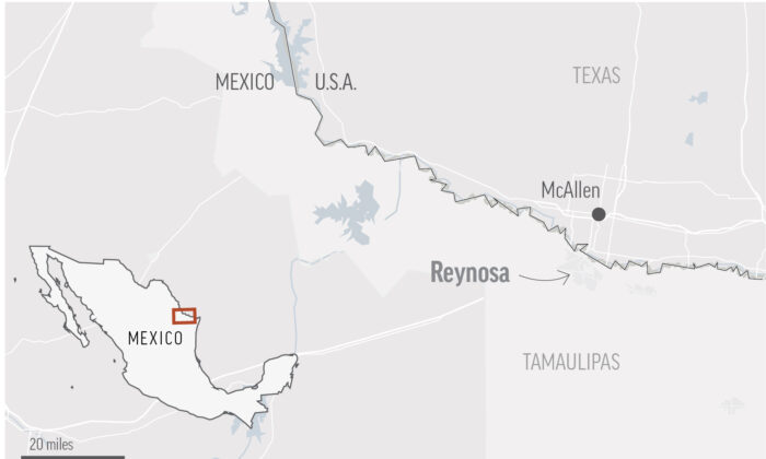 A map showing the Mexican border city Reynosa. (AP)