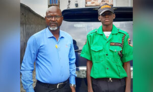 Nigerian Businessman Hires Son as Security Guard at His Company to Instill Good Values