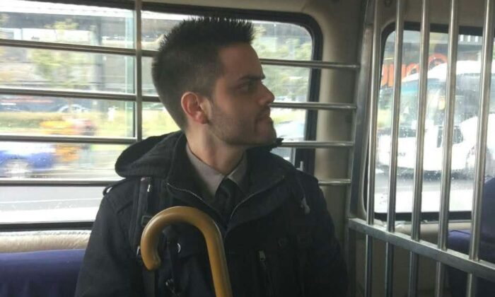 Steven Schaerer on the way to detention in China after being illegally arrested. (Courtesy of Steven Schaerer)