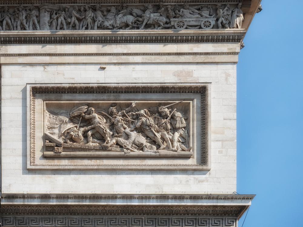 Paris,,France,-,08/03/2018:,Carving,On,The,The,Arc,De