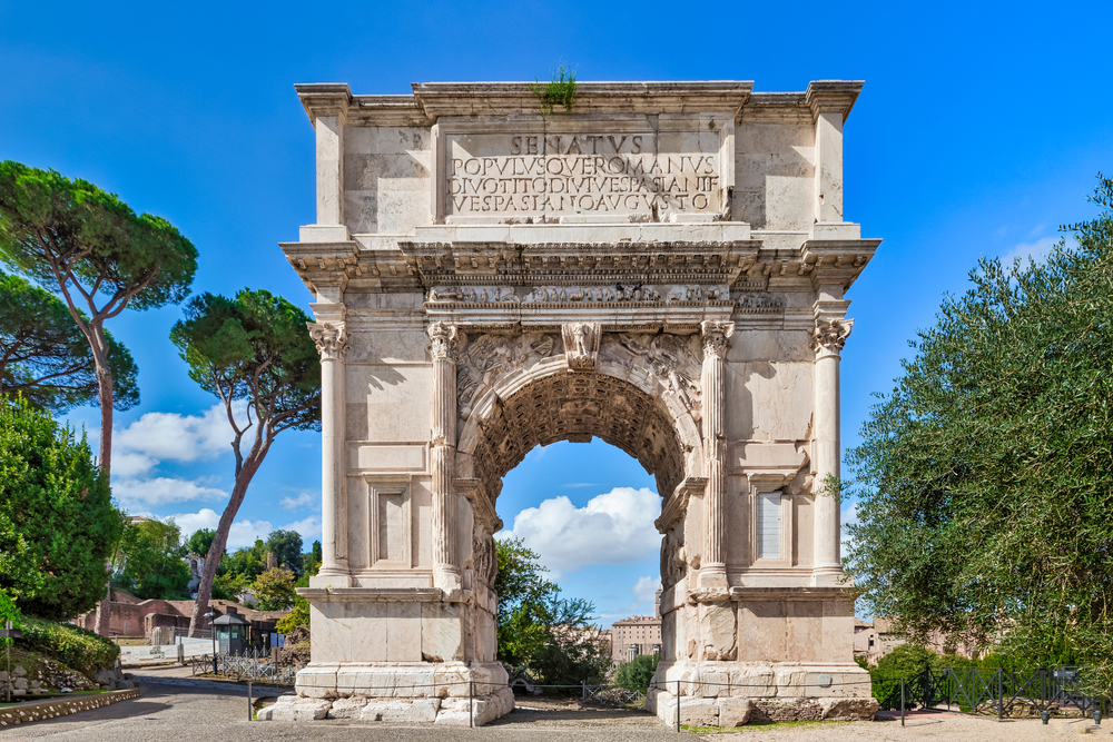 The,Iconic,Arch,Of,Titus,On,The,Via,Sacra,In