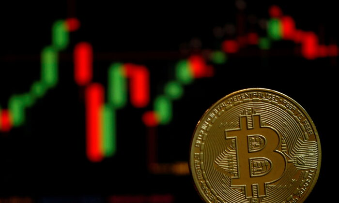 A representation of the virtual cryptocurrency bitcoin is seen in this picture illustration taken June 14, 2021. (Edgar Su/Reuters)