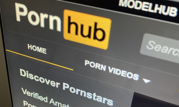 The Pornhub website is shown on a computer screen in Toronto on Dec. 16, 2020. (The Canadian Press)