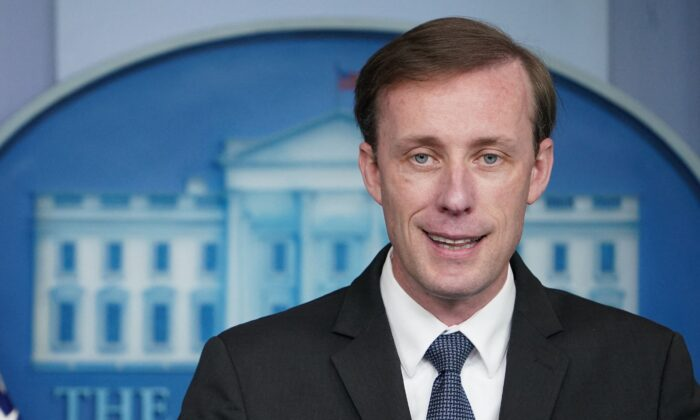 National Security Adviser Jake Sullivan speaks during the daily briefing in the Brady Briefing Room of the White House in Washington on June 7, 2021. (Mandel Ngan/AFP via Getty Images)