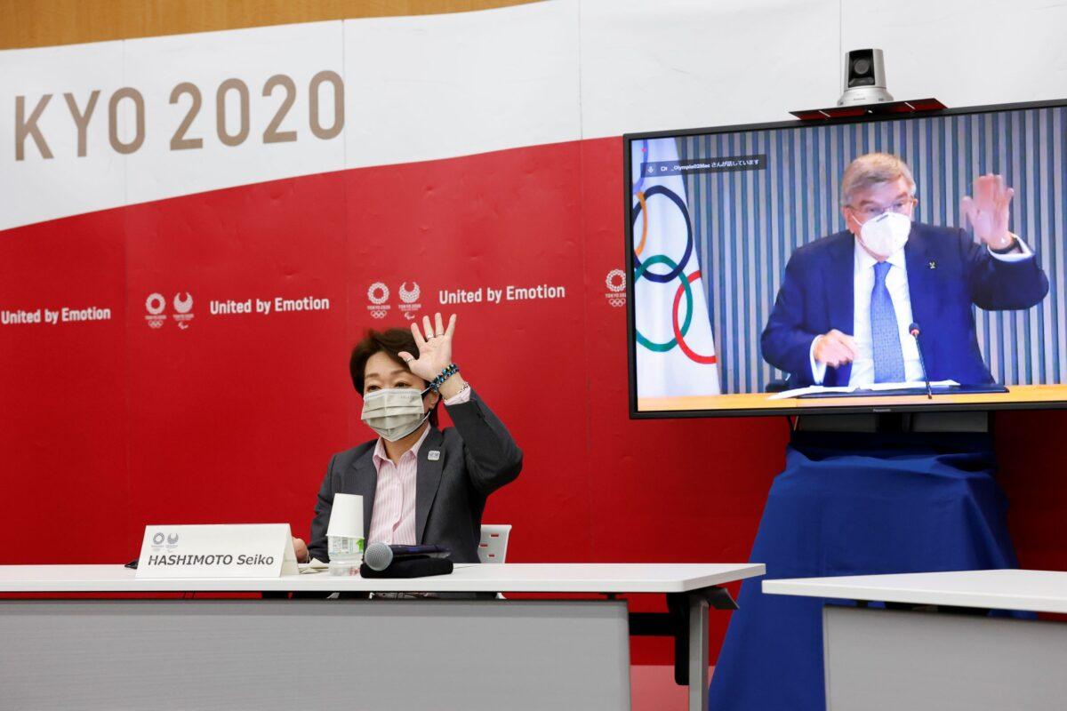 Seiko Hashimoto and Thomas Bach