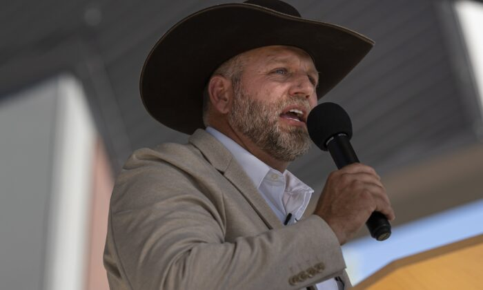 Ammon Bundy announces his candidacy for governor of Idaho during a campaign event in Boise, Idaho on June 19, 2021. (Nathan Howard/Getty Images)