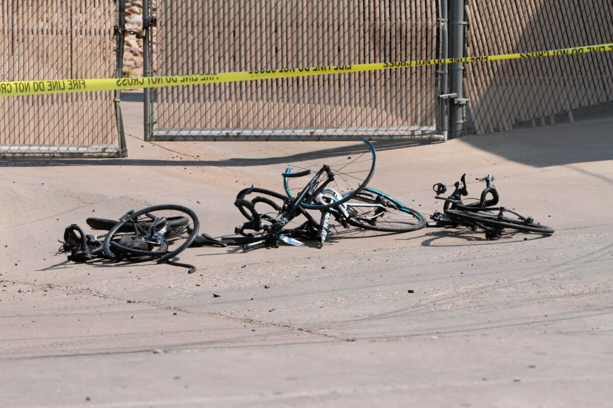 A driver in a pickup truck plowed into bicyclists competing in a community road race in Arizona
