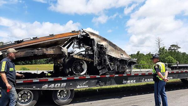 fatal multiple-vehicle crash