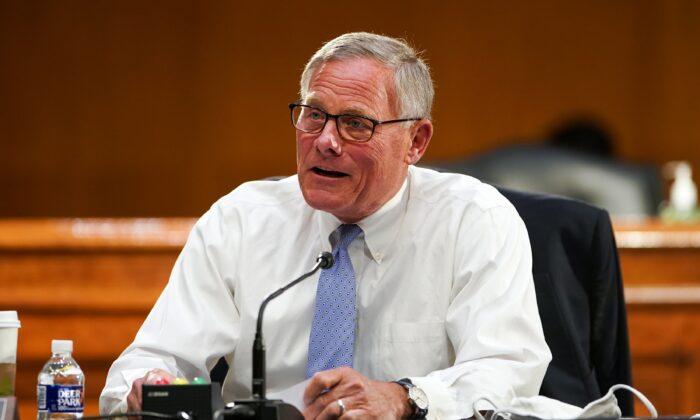 Sen. Richard Burr (R-N.C.) speaks in Washington on May 11, 2021. (Greg Nash/Pool/Getty Images)