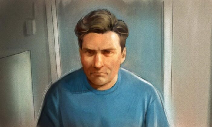 Paul Bernardo is shown in this courtroom sketch during Ontario court proceedings via video link in Napanee, Ont., on October 5, 2018. Teen killer and serial rapist Paul Bernardo is set for a parole hearing today. The designated dangerous offender, has been eligible for full parole for more than three years. Bernardo's horrific crimes in the 1980s and early 1990s include for kidnapping, torturing and killing Kristen French and Leslie Mahaffy near St. Catharines, Ont. (The Canadian Press/Greg Banning)