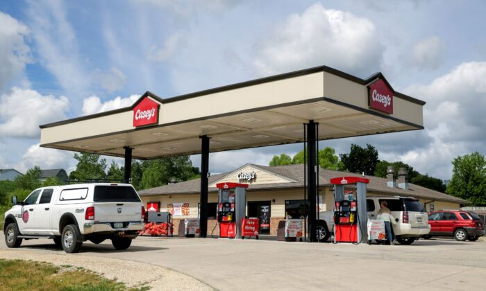 The Casey's gas station is seen at 5110 Highway 13, in Coggon, Iowa, on June 21, 2021. (Jim Slosiarek/The Gazette via AP)