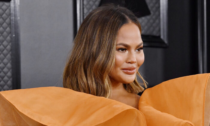 Chrissy Teigen attends the 62nd Annual GRAMMY Awards at STAPLES Center  in Los Angeles, California, on Jan. 26, 2020. (Frazer Harrison/Getty Images for The Recording Academy)