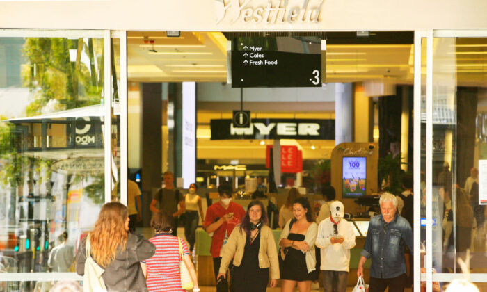 Shoppers are seen in Westfield Bondi Junction on March 23, 2020, in Sydney, Australia. (Jenny Evans/Getty Images)