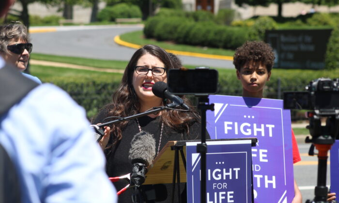 Kristan Hawkins, President of Students for Life at rally held in Washington D.C., on June 16, 2021 (Ophelie Jacobson/The Epoch Times)