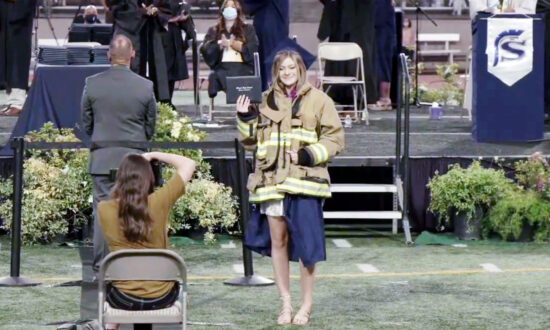 Colleagues of a Firefighter Killed in Fire Station Shooting Attend His Daughter's Graduation