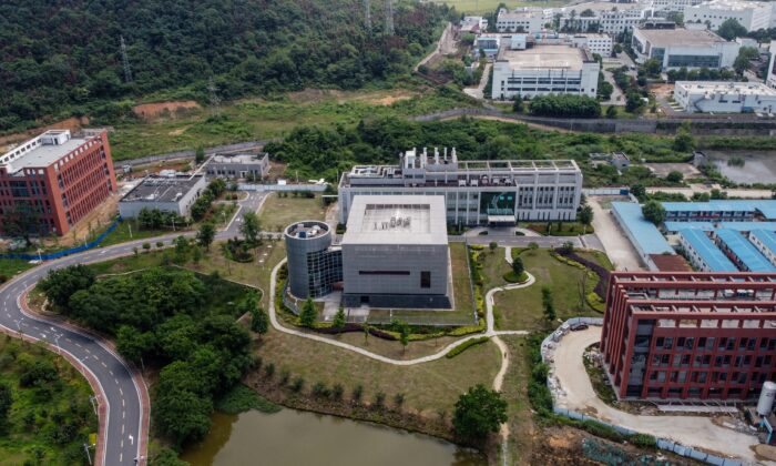 This aerial view shows the P4 laboratory (C) on the campus of the Wuhan Institute of Virology in Wuhan in China's central Hubei Province on May 27, 2020. (Hector Retamal/AFP via Getty Images)