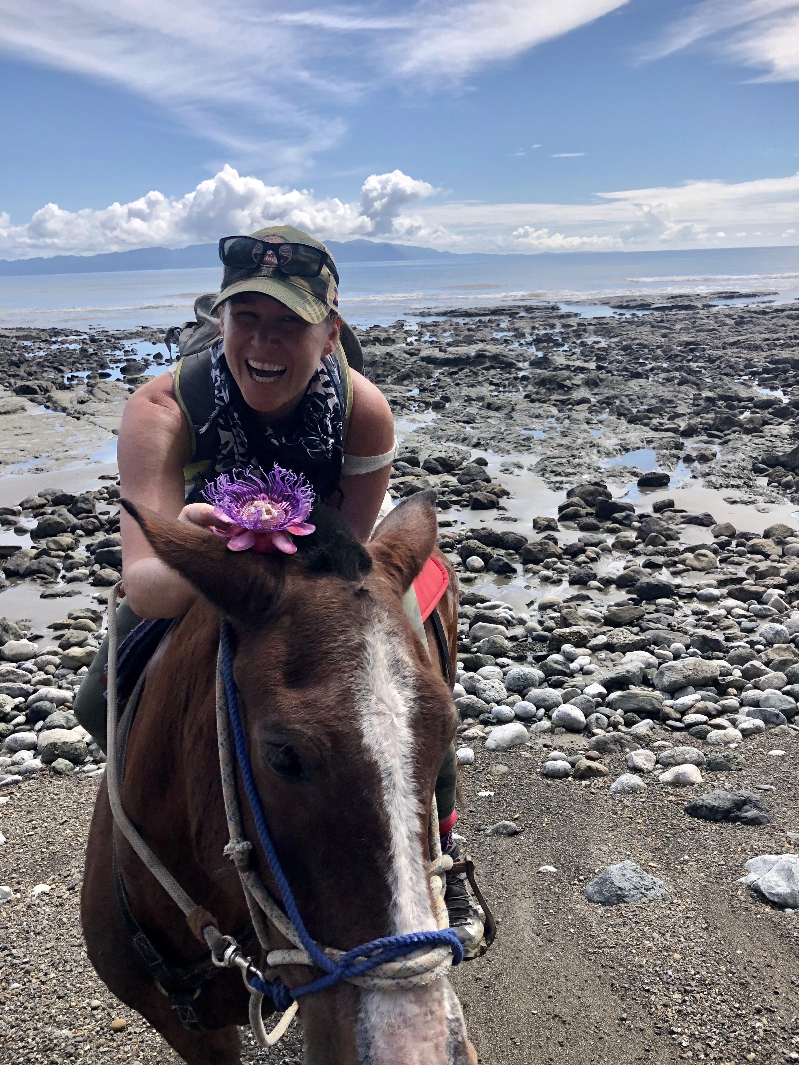 Exploring the Osa Peninsula on horseback. (Tami Ellis)
