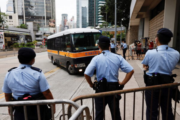 hong kong prison van