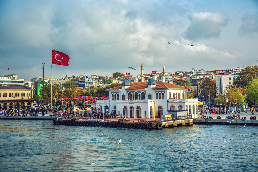 Istanbul,,Turkey:,Ferry,Station,At,Asian,Part,Of,Istanbul,-