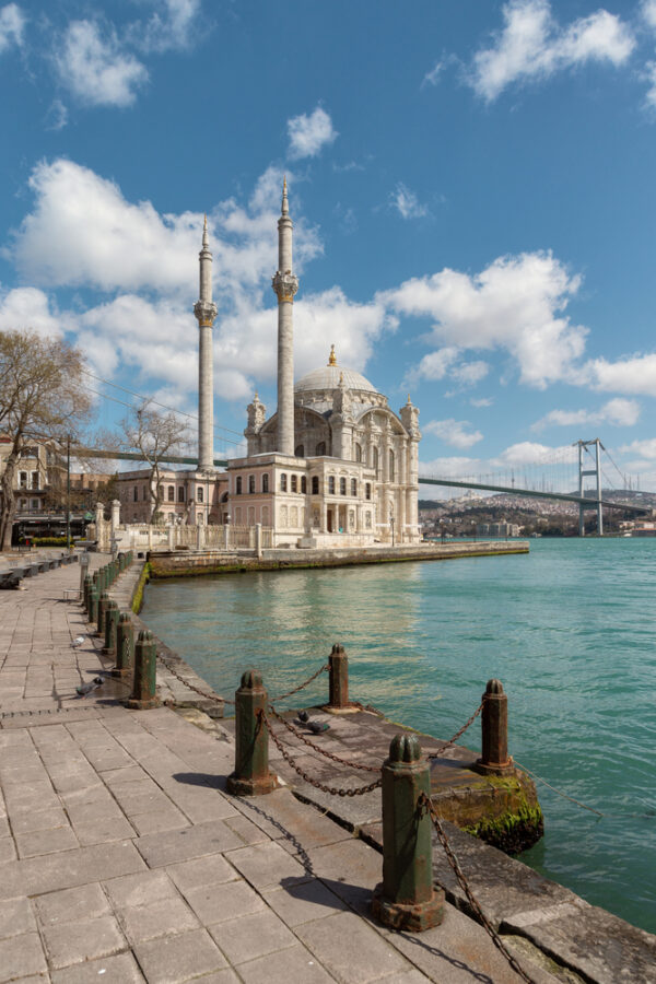 Besiktas,istanbul,-,April,08,,2020,:,Ortakoy,Coastal,Area,And