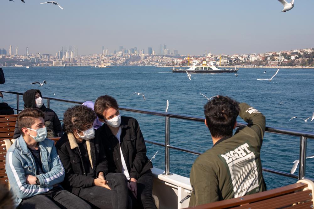Passengers,Traveling,On,The,Eminonu-kadikoy,Ferry,Of,Istanbul,City,Lines