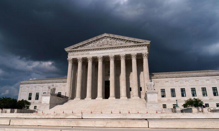 The Supreme Court is seen in Washington on June 8, 2021. (J. Scott Applewhite/AP Photo)