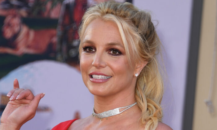 """Singer Britney Spears arrives for the premiere of Sony Pictures' """"Once Upon a Time... in Hollywood"""" at the TCL Chinese Theatre in Hollywood, Calif., on July 22, 2019. (Valerie Macon/AFP via Getty Images)"""