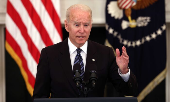President Joe Biden speaks on gun crime prevention measures at the White House in Washington on June 23, 2021. (Kevin Dietsch/Getty Images)