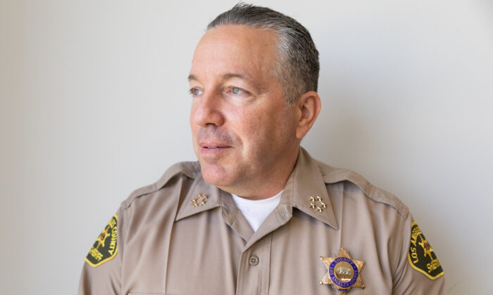 A photo of Los Angeles Sheriff Alex Villanueva on May 27, 2021. (John Fredricks/The Epoch Times)