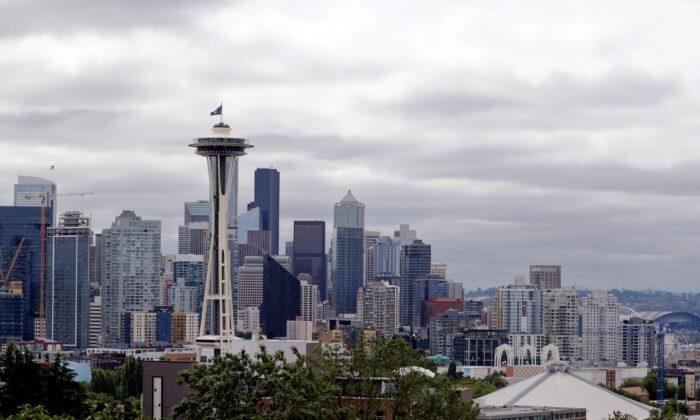 The Space Needle in Seattle, Wash., on July 23, 2020. (Elaine Thompson/AP Photo)