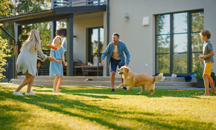 Homes and backyards are designed for comfort and easy living. (Gorodenkoff/Shutterstock)