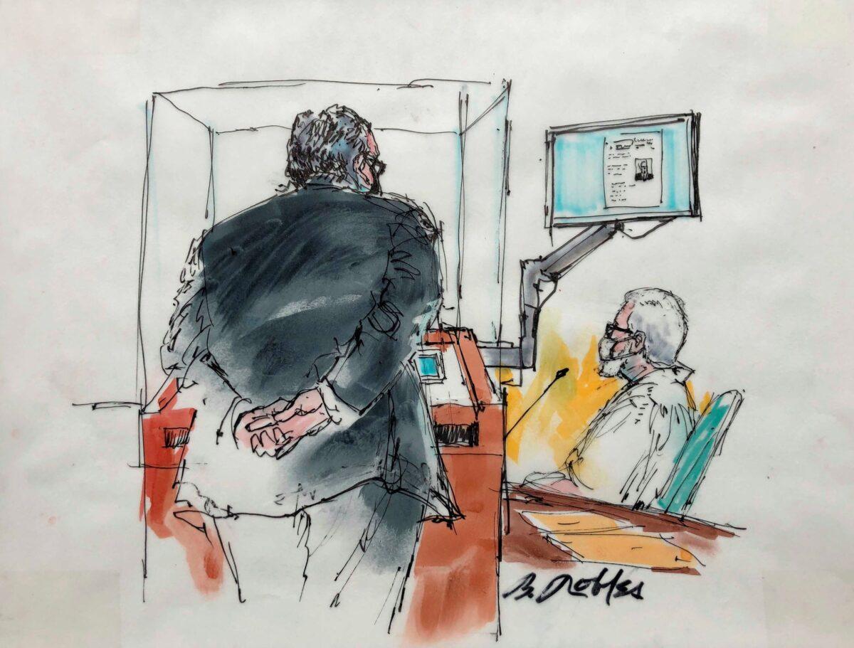 Tahawwur Rana courtroom sketch
