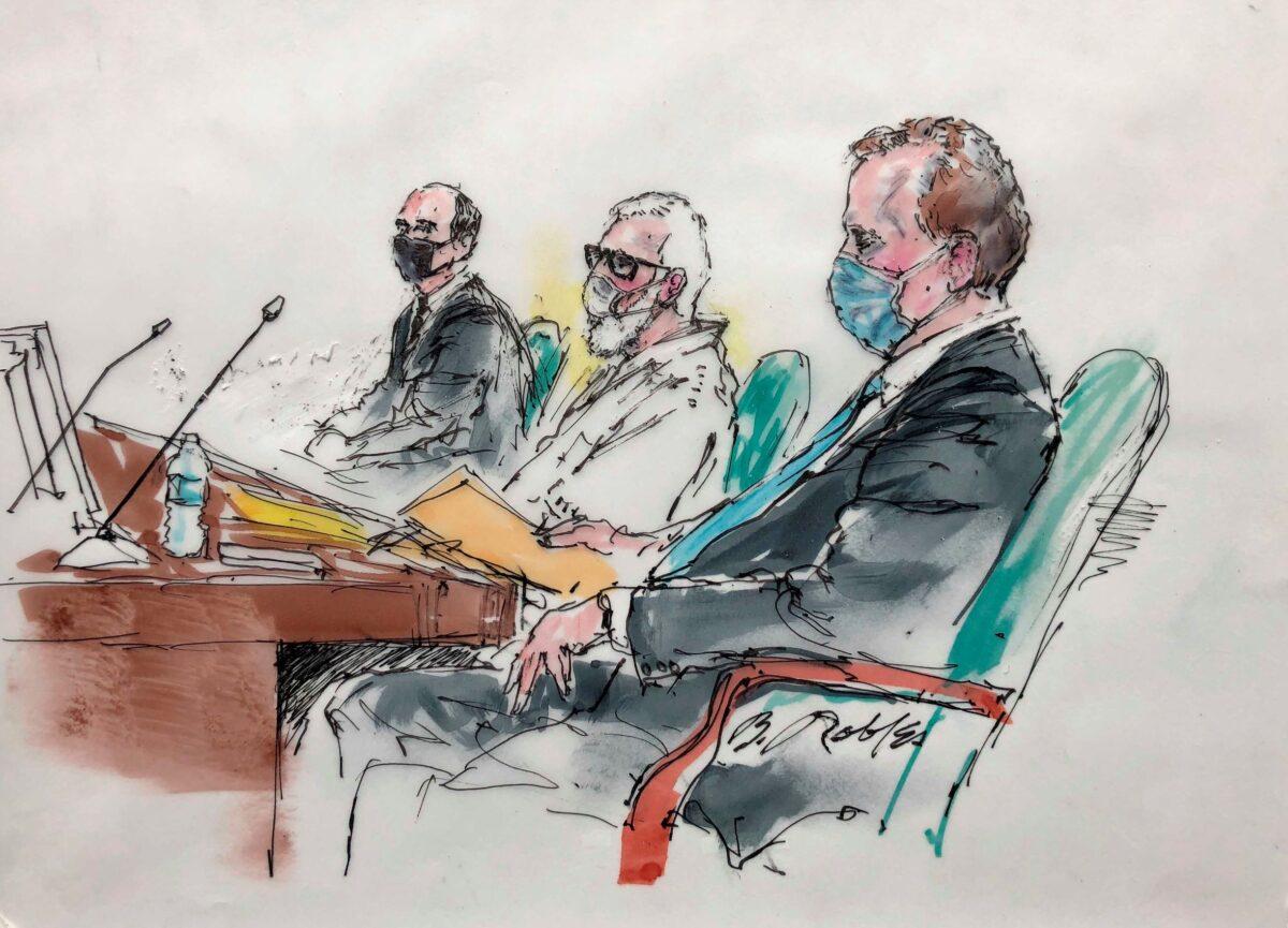Tahawwur Rana with attorneys