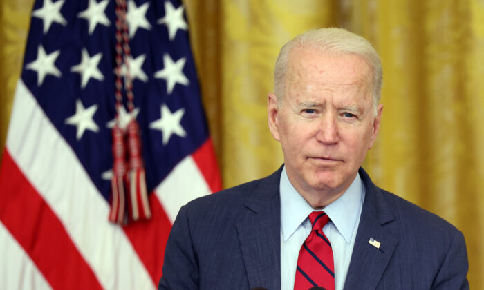 President Joe Biden delivers remarks on the Senate's bipartisan infrastructure deal at the White House in Washington, on June 24, 2021. (Kevin Dietsch/Getty Images)