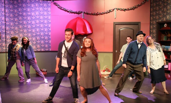 """The cast can come from all walks of life. The cast of """"Dear Miss Barrett,"""" rehearsing. (Courtesy of Michael Kurek)"""